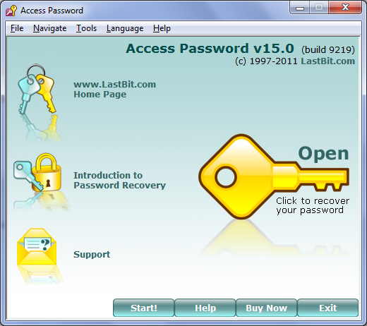 Recover Access database and user passwords.