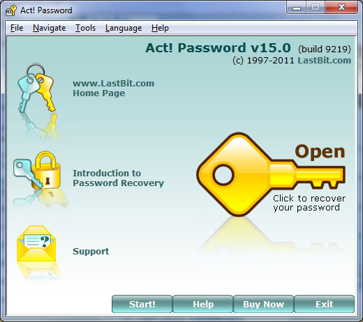LastBit Act! Password Recovery screenshot