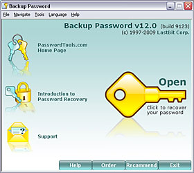 Click to view Backup Password 10.1.6805 screenshot