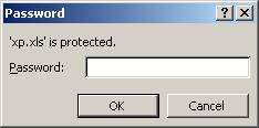 Excel password recovery article - password prompt screen