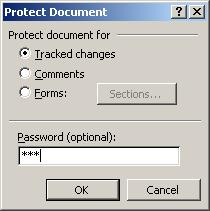 Word password recovery article - document protection password screen1