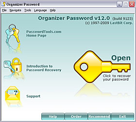 Click to view LastBit Organizer Password Recovery 12.0.9123 screenshot